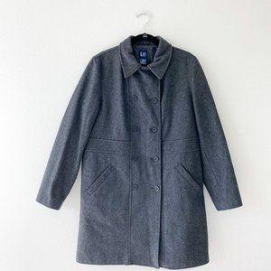 Gap Grey Charcoal Wool Blend Warm Winter Coat